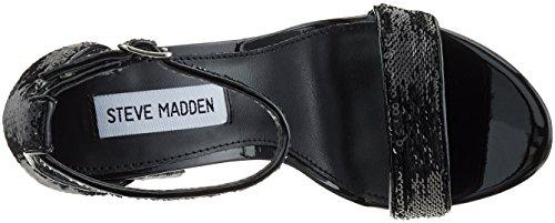 Madden black Sandali A s Steve Nero Carrson Punta Sequins Aperta Donna TdwUWpq