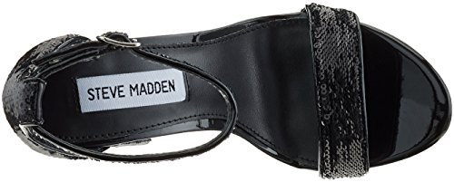Madden s Donna Black Sequins Aperta Punta Steve Nero Carrson a Sandali AdcTAqZw