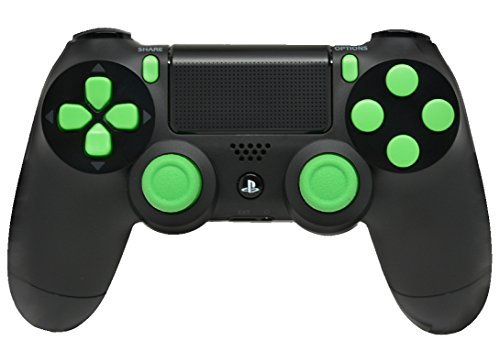 Black/Green PS4 Playstation 4 Rapid Fire Modded Controller for Black Ops 3, AW, Ghosts, Destiny, Battlefield: Quick Scope, Drop Shot, Auto Run, Sniped Breath, Mimic, More by Controller Customizer Scope Breath Drops