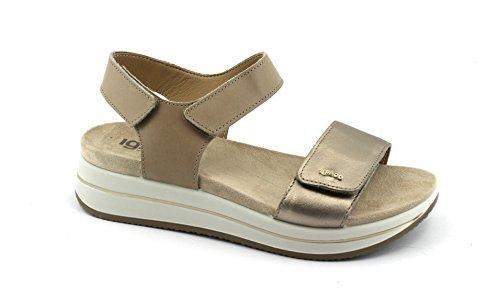 Leather Beige Woman CO Beaver 1172411 Shoes Tears Sandals Beige Skin IGI Wedge q8p4Zx8