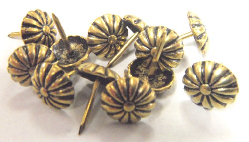 Decorative Floral Daisy Head Tack Nail Upholstery Stud 500 Pcs Antique Gold Rosette by Unknown