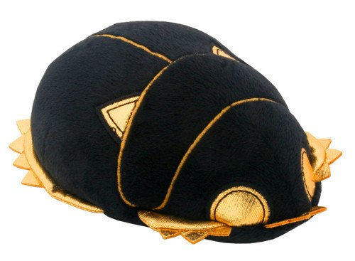 Egyptian Black and Gold Scarab. Egyptian Stuffed Plush Doll. Cute Little Soft Cuddly Collectible Toy H: 5.5