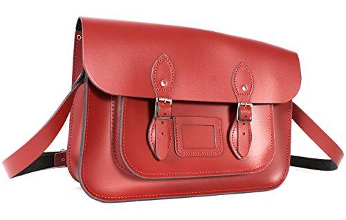 Oxbridge Satchel's, Borsa a secchiello donna rosso