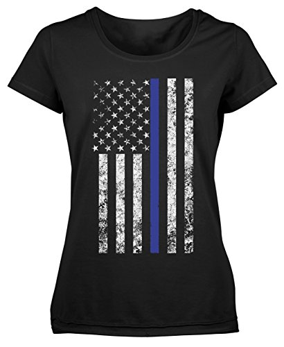 Rothco Women's Thin Blue Line Longer T-Shirt, L