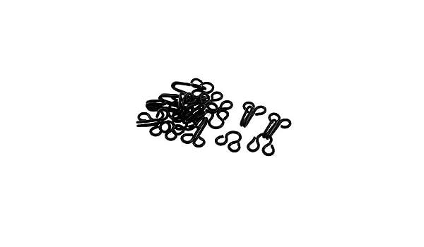 Amazon.com: eDealMax Sujetador de la ropa Interior del gancho de cierre de ojos Botones 2.4cm Longitud 10Sets Negro