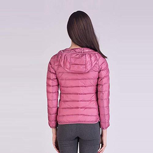 Corto Outdoor Piumino Transizione Manica Packable Di Donna Leggero Piumini Moda Cappotto Incappucciato Fit Giacca Mode Marca Casual Eleganti Slim Nero Lunga HqBFCx