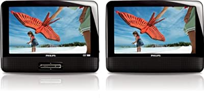 Philips PD9012/37 9-Inch LCD Dual Screen Portable DVD Player, Black by Philips