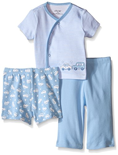 Little Me Baby 3 Piece Diaper Set, Blue, 3 Months