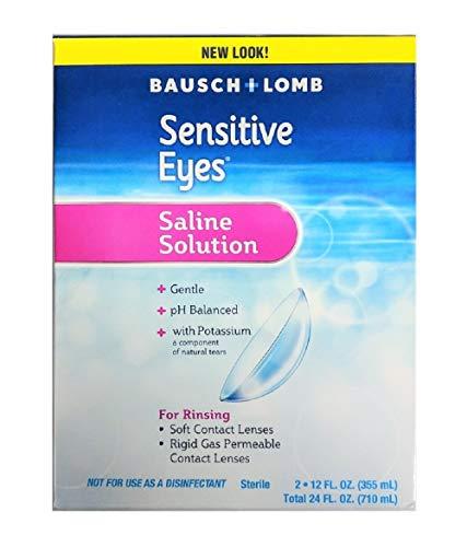 (Sensitive Eyes Saline Solution, 12 Fluid Ounce Each (Twin Pack))