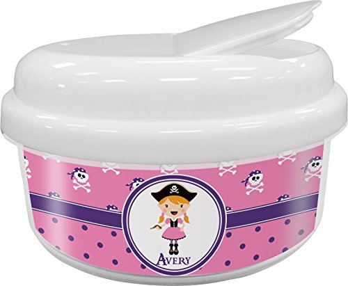 Pink Pirate Snack Container (Personalized)