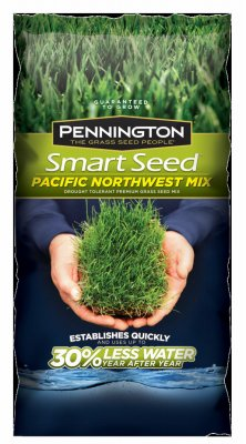 Pennington Seed 100526646 Smart Seed Grass Seed Mix, Pacific Northwest Blend, 3-Lb. - Quantity 8 by Pennington Seed
