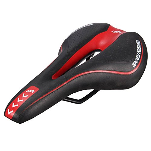 OUTERDO Bike Saddle Mountain Bike Seat Breathable Comfortable Bicycle Seat with Central Relief Zone and Ergonomics Design Fit for Road Bike and Mountain Bike -