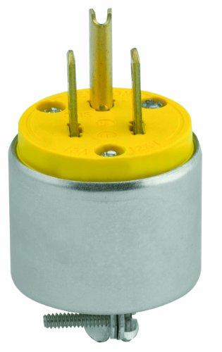 Leviton 515PA 15 Amp, 125 Volt, Armored Grounding Plug, (Armored Grounding Plug)