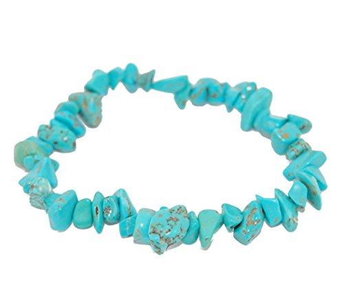 (Miner's Horde - Chip Chunk Bracelet Turquoise Blue, 6-8