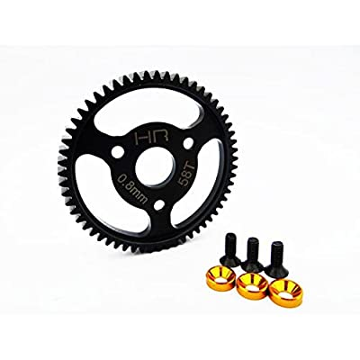 Hot Racing SJT258 Steel Spur Gear (58t 0.8 Mod)(Gold) - Traxxas: Toys & Games