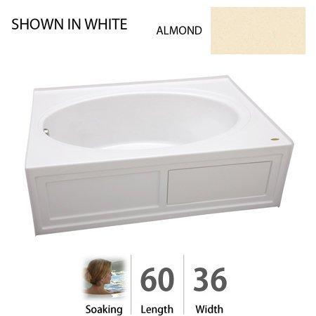 Jacuzzi NVS6036BRXXXXA  NVS6036 BRX XXX 60-Inch x 36-Inch Nova Drop in Three Wall Alcove Soaking Bathtub with Right Drain Jacuzzi Nova Bathtub Alcove