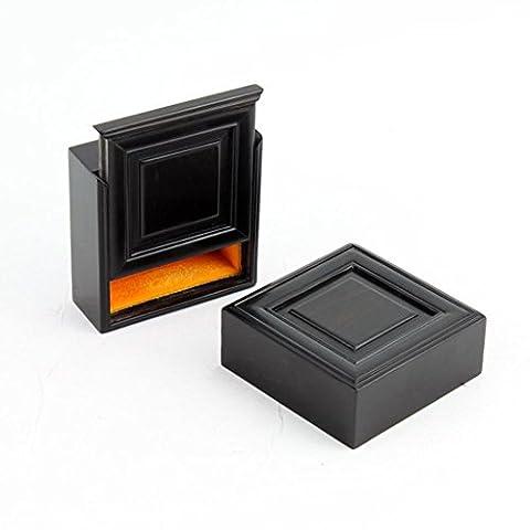 ebony mahogany jewelry box/Jade Jadeite pull slide jewelry box/antique solid wood Bangle box-A