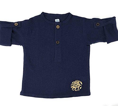The Arabesque Little Boy's Soft Linen Bunny Tunic (Navy) (2t)