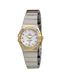 Omega Constellation Mother of Pearl Diamond Dial Ladies Watch 12325246055008