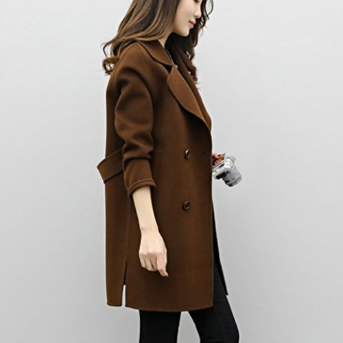 Donna Coat Women Overcoat Overcoat Autunno Parka Jacket Cardigan Inverno Giacca Cardigan Casual Coat Outwear Slim Parka Capispalla Coffee SOMESUN Cotton TrpPwxqT