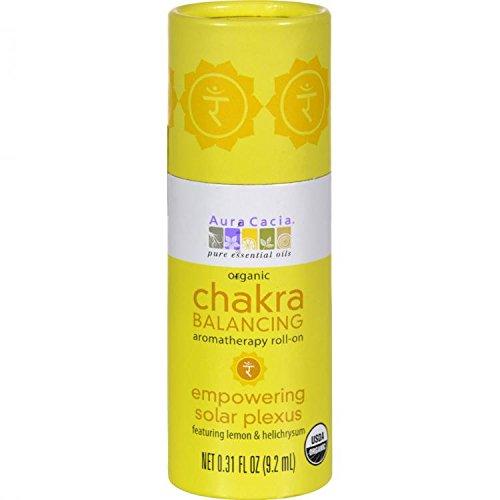 Aura Cacia Organic Chakra Balancing Aromatherapy Roll-on - Empowering Solar Plexus - .31 oz by Aura Cacia