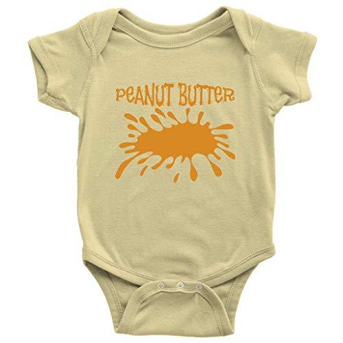 Peanut Butter Onesie Halloween Roleplay Last Minute Costume Baby Bodysuit (12M) -
