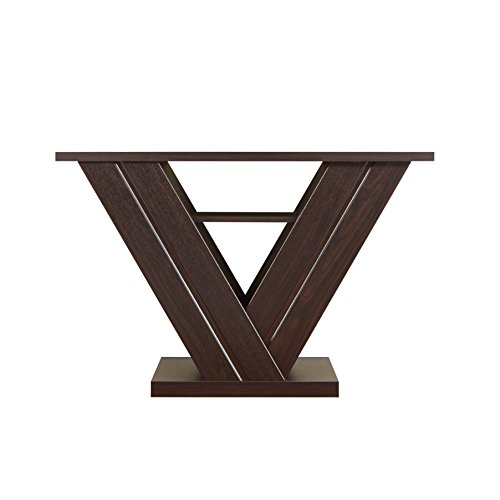 ioHOMES Vittorio Modern V-Design Console Table, Walnut