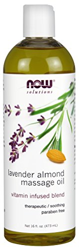 NOW Solutions Lavender Almond Massage Oil,16-Ounce