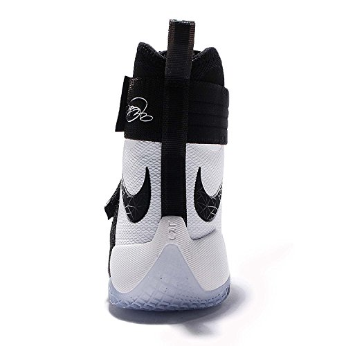 Nike Uomo Lebron Soldier 10 SFG EP, NERO / NERO-BIANCO, 13 M US