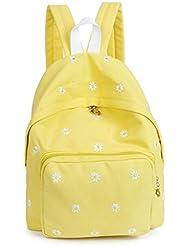 Women Korean Style Canvas Flower Floral Printing Backpack Bags College Students School Rucksacks Bookbags Laptop...
