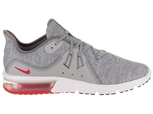 Nike Air Max Sequent 3 Hommes Courir Cool Gris / Université Rouge
