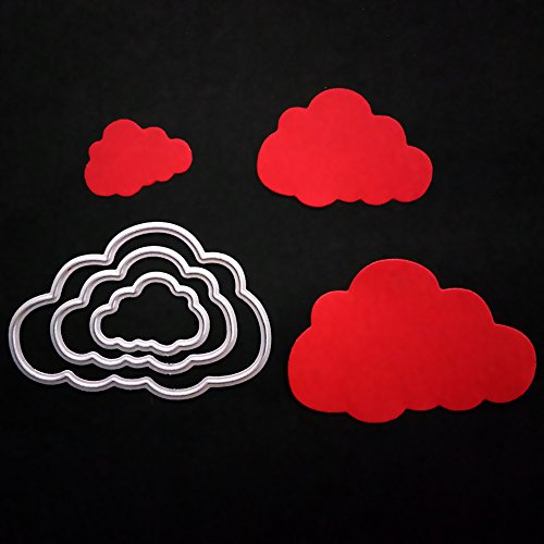 Cloud Metal Cutting Dies for Card Making, NOMSOCR Cut Die Metal Stencil Template Mould for DIY Scrapbook Embossing Album Paper Card Craft Birthday Festival Decoration (Cloud) by NOMSOCR (Image #1)