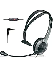 Panasonic KXTCA430S Comfort-Fit Foldable Headset with 2.5mm Jack, Silver