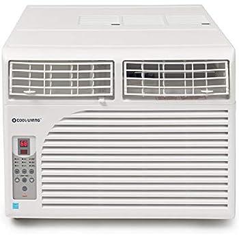 Cool Living 8,000 BTU Energy Star Window Mount Air Conditioner AC Unit, 350  SqFt