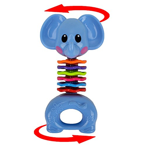 Teether Rattle Set Baby Toy - Happytime SLE84822 (2018 New Design)8pcs Latest Rattle & Teether Toys with Adorable Color in Owl Bottle Gift for Newborn Baby by Happy-Time (Image #4)