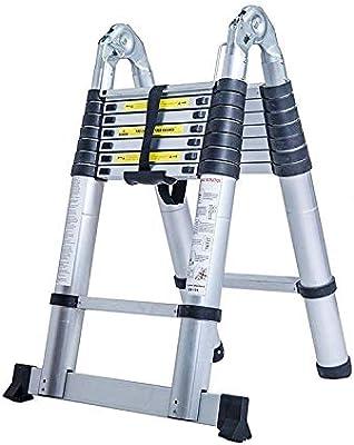 Keraiz KZLD-6002 Escalera telescópica de Aluminio (5 m, Plegable, Cumple con Las Normas EN131, plata, 5m A Type: Amazon.es: Bricolaje y herramientas