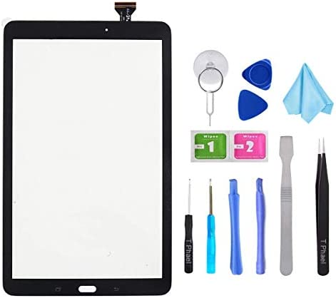 Black Touch Screen Digitizer for Samsung Galaxy Tab A 10.1 – Glass Replacement Parts for T580 T585 SM-T580 SM-T585 2016 (Not Include LCD) with Tools Kit + Pre-Installed Adhesive