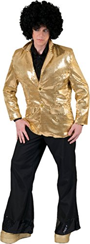 Funny Fashion Disco Jacket Gold Adult Lg by Funny Fashion