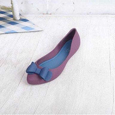 RUGAI-UE Moda de Verano Mujer sandalias casuales zapatos de tacones PU Confort,Plata,US8 / UE39 / UK6 / CN39 Red