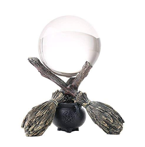 Wiccan and Witchraft Cauldron Broomstick Crystal Ball ()