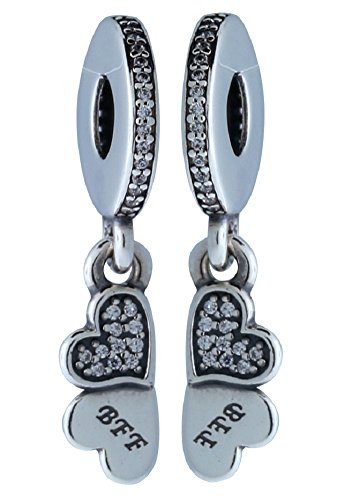 PANDORA 791949CZ Best Friends Forever Dangle Charm