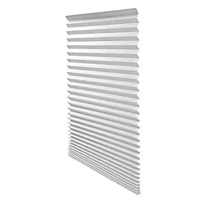 "Quick Fix Light Filtering Pleated Fabric Shade White, 36"" x 72"""