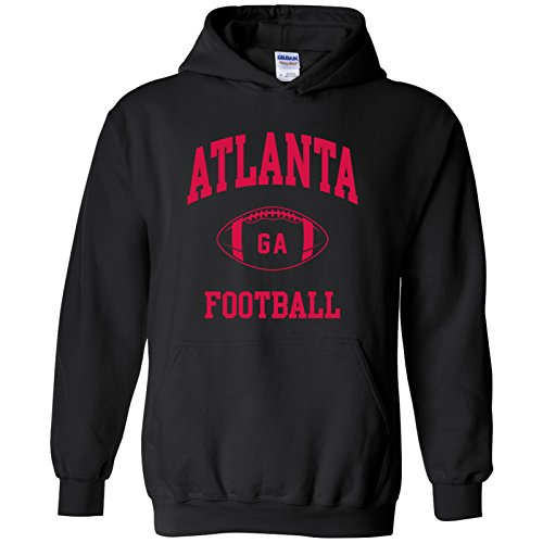 Atlanta Classic Football Arch American Football Team Sports Hoodie - Large - Black ()