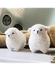 WellieSTR 1 Set Hand Crafted Wool Sheep Felt Animals Needle Felting Kit for Family Ornaments Home Holiday Christmas Hanging Decorations Wedding Gifts