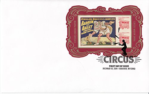 First Covers Collecting Stamp Day (Circus Souvenir First Day Cover Collectible USPS Stamp Cachet FDC)