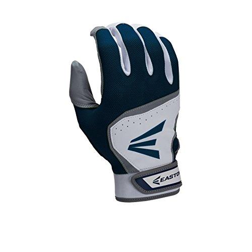 - Easton Youth HS7 Batting Gloves, White/Navy, X-Large