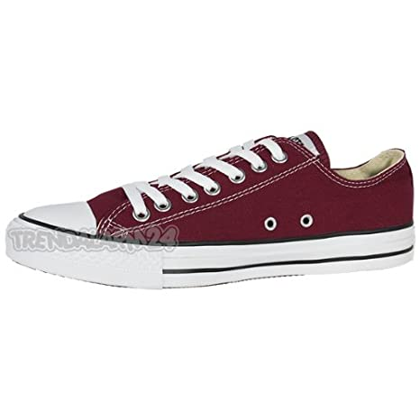 Converse Chuck Taylor All Star Ox Scarpe Maroon m9691c Sneaker Tempo Libero