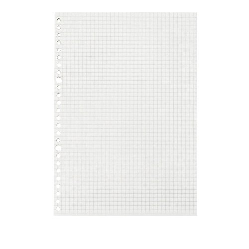 JUNDA Refill PapersB5 Size 26 Holes Grid Creamy White Paper for Loose Leaf Binder Notebook,60 Sheets/Set,3 ()