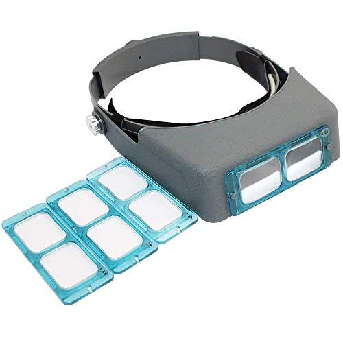 - Headband Magnifier Jewelry Visor Opitcal Glass Binocular Magnifier with Lens -1.5X 2X 2.5X 3.5X Magnification, 4