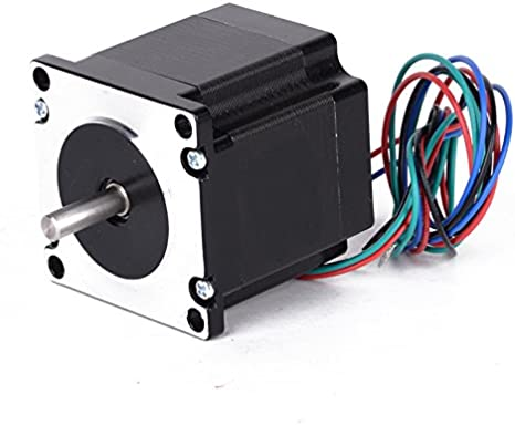 1pc 24 V motor paso a paso NEMA 23 Single Shaft 1.8degree 4 Leads 4 canal mayitr de 56 mm para 3d impresora: Amazon.es: Electrónica